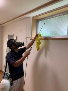数か月間空室だった部屋にカビ発生し除カビ・防カビ施工いたしました。